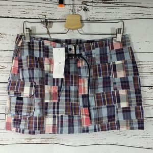 Tommy Hilfiger Swim Madras Plaid Mini Skirt NWT